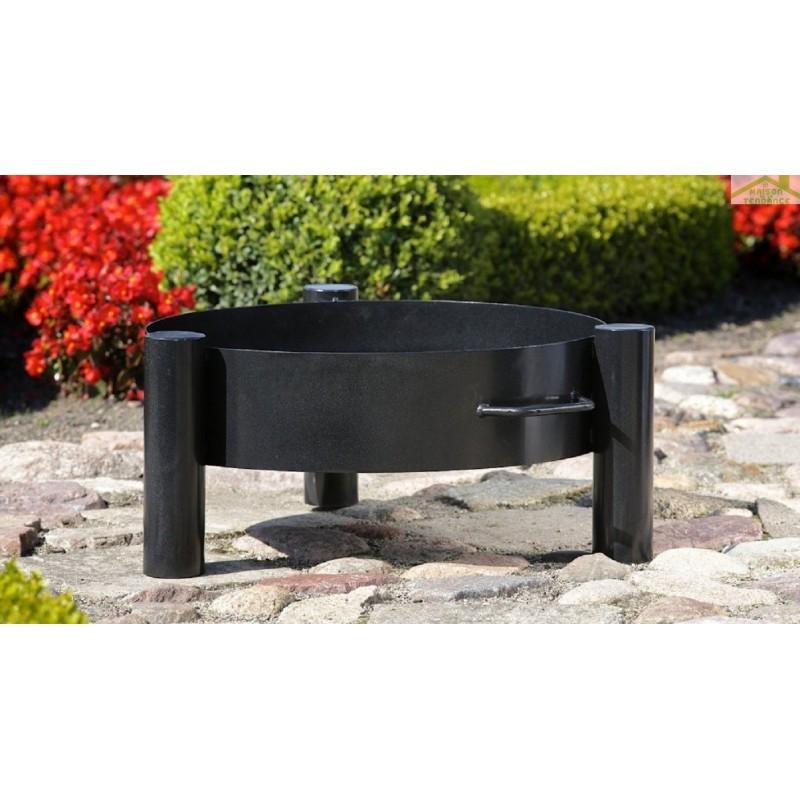 Grille acier noir sur tr pied brasero de jardin haiti for Brasero de jardin belgique
