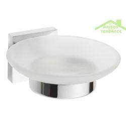Porte-savon en verre 11cm x 5,5cm x 12,5cm
