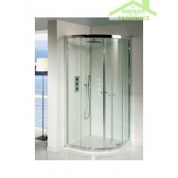 Parois de douche coulissantes LUCENA QUADRANT 90x90x195 cm en verre clair
