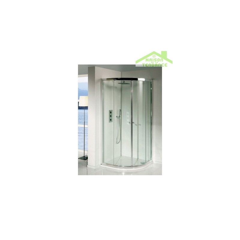 Parois de douche coulissantes lucena quadrant 90x90x195 cm for Parois de douche en verre