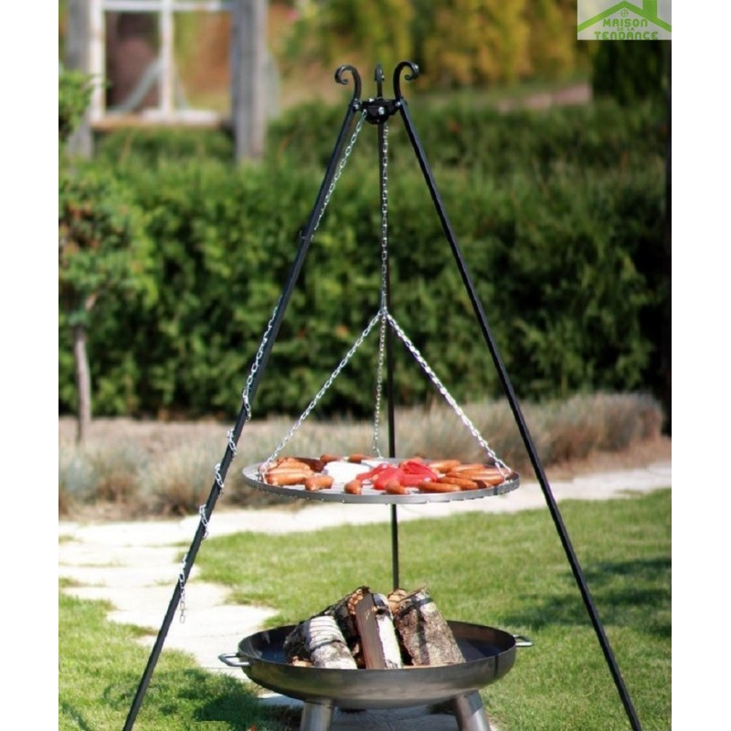 Brasero barbecue table basse relevable for Brasero de jardin castorama