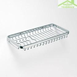 Porte-savon grille rectangulaire CYTRO en chrome 30x13x 2cm
