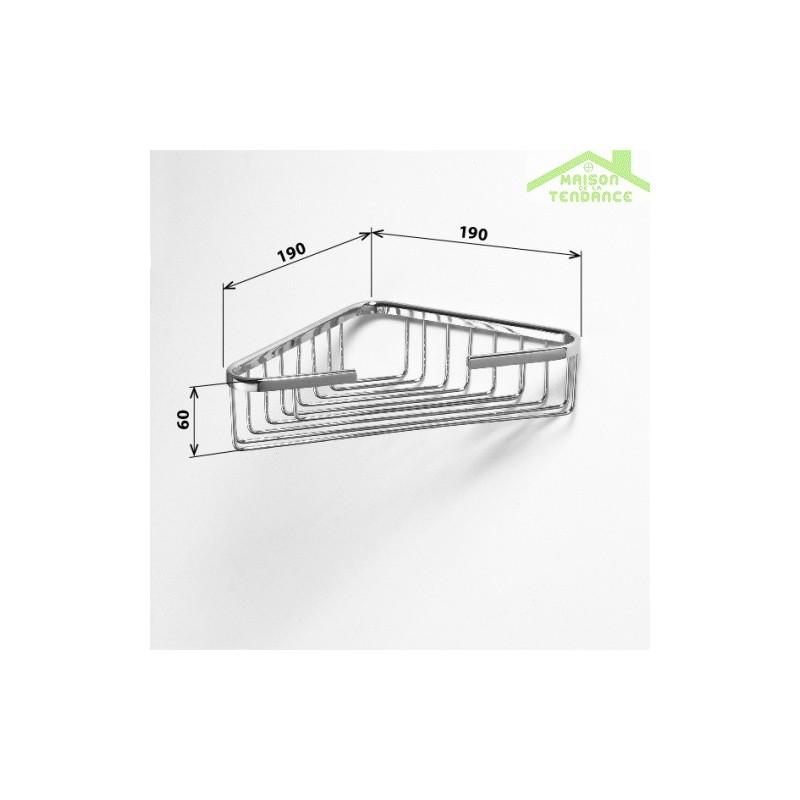 Porte savon grille d 39 angle cytro en chrome 19x19x6cm for Porte savon d angle