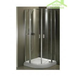 Parois de douche ¼ de rond universelle RIHO FJORD F308 en verre clair