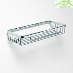 Porte-savon rectangulaire CYTRO en chrome mat 11,5x21,5x3,5cm
