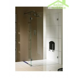 Parois de douche universelle RIHO WALK IN DOUCHE SCANDIC S402 en verre clair