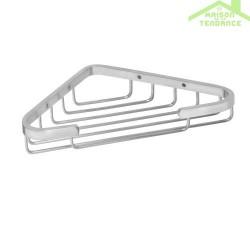 Porte-savon en triangle de coin CYTRO en chrome mat 17x17x22cm
