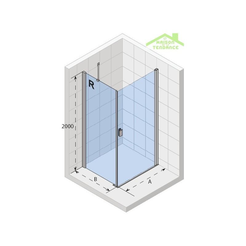 Parois de douche gauche riho nautic fjord combi n201 en for Parois de douche en verre