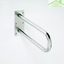 Barre d'appui en forme U HELP en acier brossé