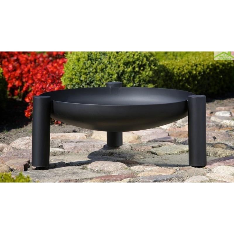 grille en acier noir sur tr pied brasero de jardin palma maison de la tendance. Black Bedroom Furniture Sets. Home Design Ideas