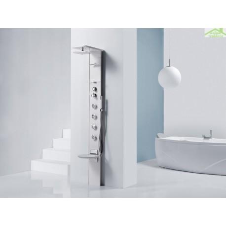 colonne de douche hydromassante m canique ou thermostatique avec si ge novellini cascata 3. Black Bedroom Furniture Sets. Home Design Ideas