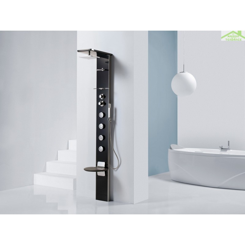colonne de douche hydromassante m canique ou thermostatique avec si ge novellini cascata 3. Black Bedroom Furniture Sets. Home Design Ideas