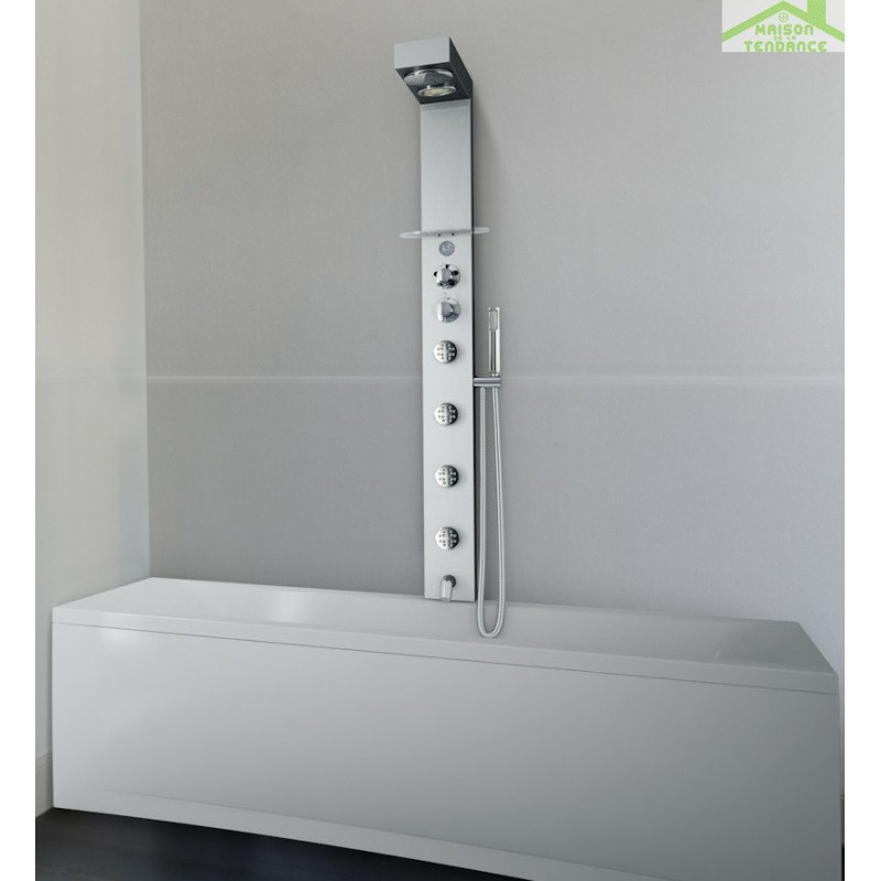 colonne de douche thermostatique hydromassante novellini soul 2. Black Bedroom Furniture Sets. Home Design Ideas