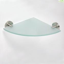 Etagère, tablette de coin BETA en verre 25,5cm x 25,5cm x 5,5cm