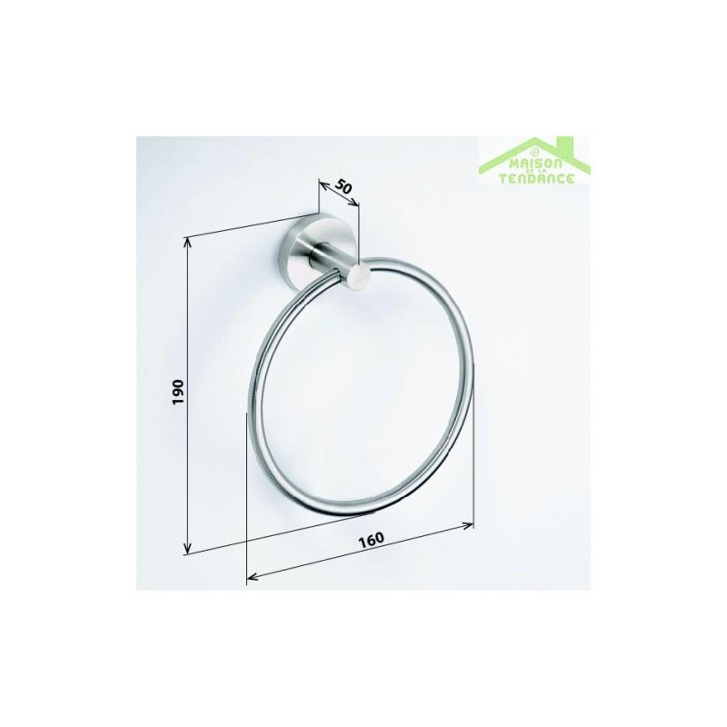 Porte serviette anneau NEO en acier inoxydable 19x16x5 cm