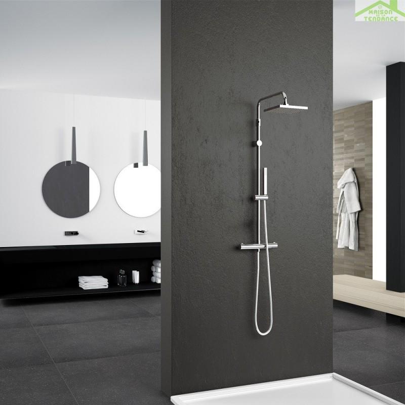 colonne de douche thermostatique novellini easy 2 en chrome. Black Bedroom Furniture Sets. Home Design Ideas