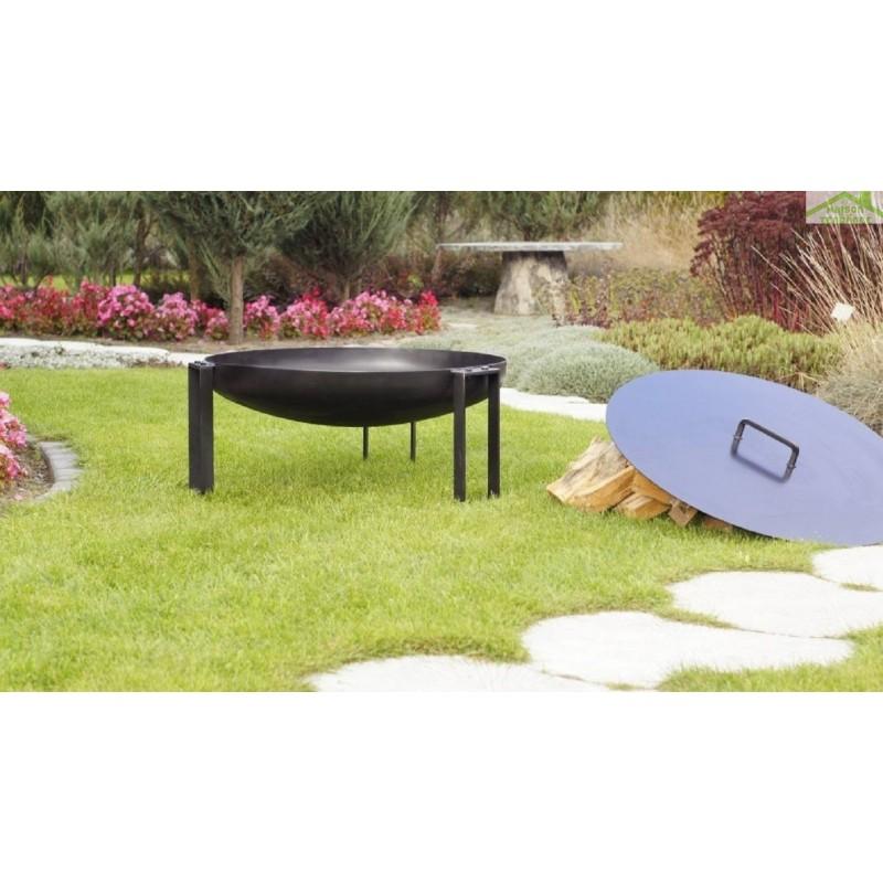 grille en acier noir sur tr pied brasero de jardin tana maison de la tendance. Black Bedroom Furniture Sets. Home Design Ideas
