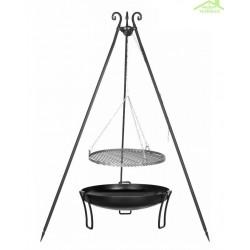 Grille sur trépied + Brasero de jardin PAN