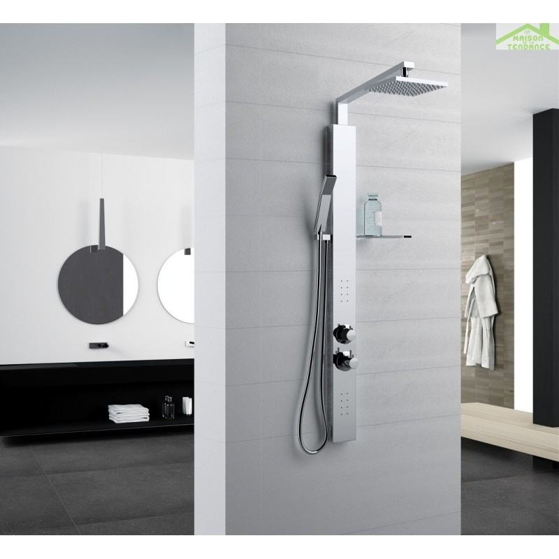 colonne de douche hydromassante novellini revif plus en. Black Bedroom Furniture Sets. Home Design Ideas