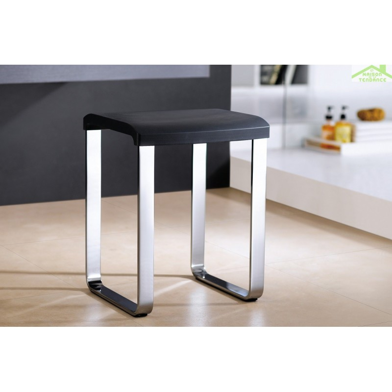 tabouret de douche novellini en aluminium anodis. Black Bedroom Furniture Sets. Home Design Ideas