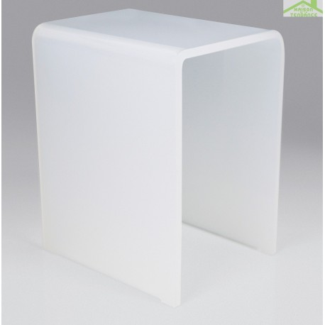 tabouret de douche blanc novellini en acrylique opalin. Black Bedroom Furniture Sets. Home Design Ideas