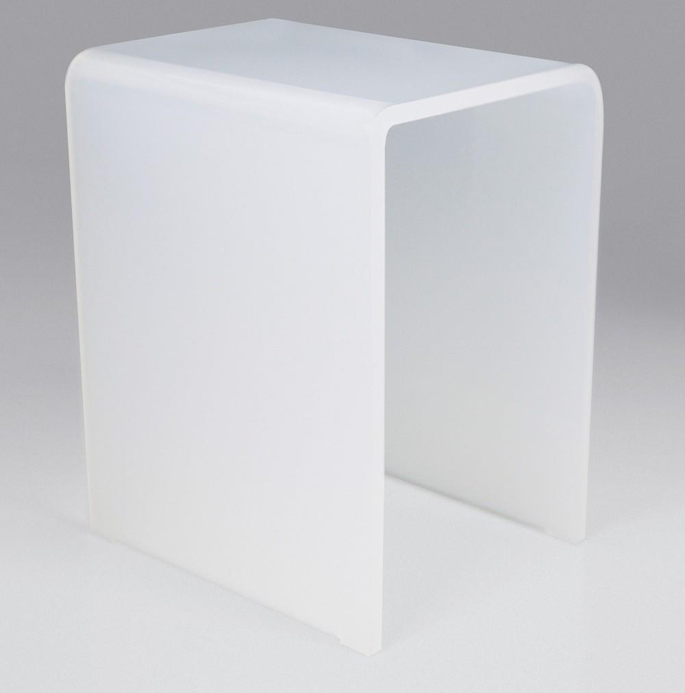 Tabouret de douche blanc NOVELLINI en acrylique opalin