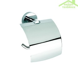 Dérouleur papier toilette avec couvercle OMEGA en chrome 14,5x15,5x9cm