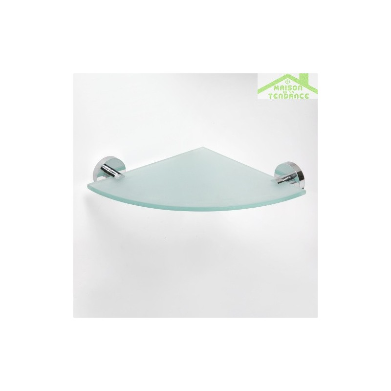 Etag re tablette de coin en verre omega 25 5x5 5x25 5cm for Etagere de coin salle de bain