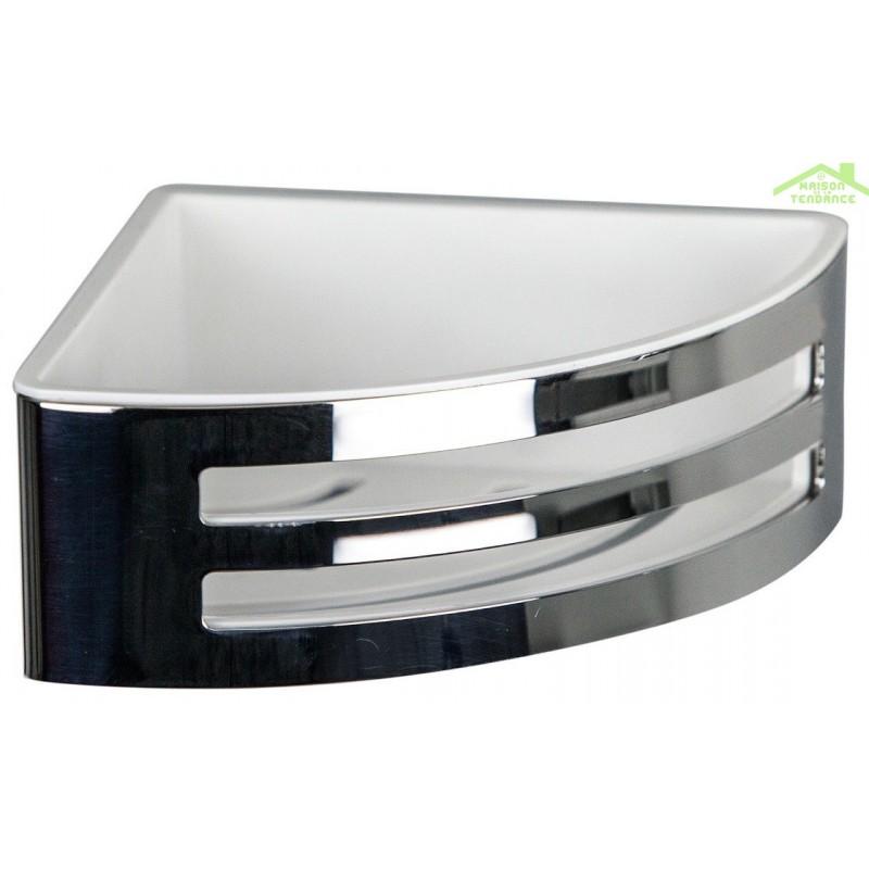 porte savon d 39 angle panier deux lucarnes novellini en m tal chrom. Black Bedroom Furniture Sets. Home Design Ideas