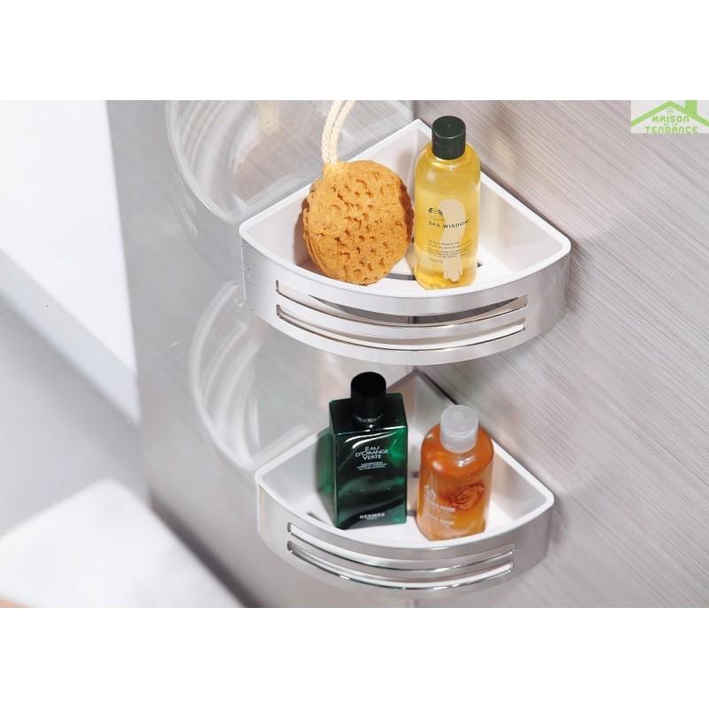 Porte savon d 39 angle double panier deux lucarnes for Porte savon d angle