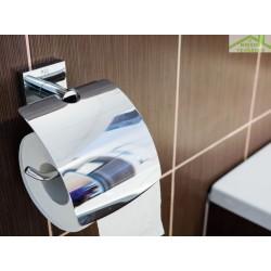 Dérouleur papier toilette mural avec couvercle BETA 13,5x 18x 9cm