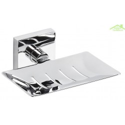 Porte-savon rectangulaireen chrome BETA 12,5cmx5,5cmx11,5cm