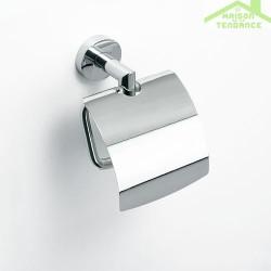 Dérouleur toilettes WC avec couvercle OMEGA en chrome 13,5x18x9cm
