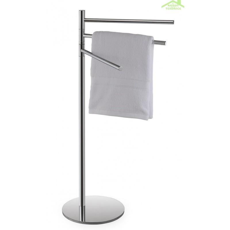 Porte serviette pivotant triple avec support omega en - Support a serviette sur pied ...