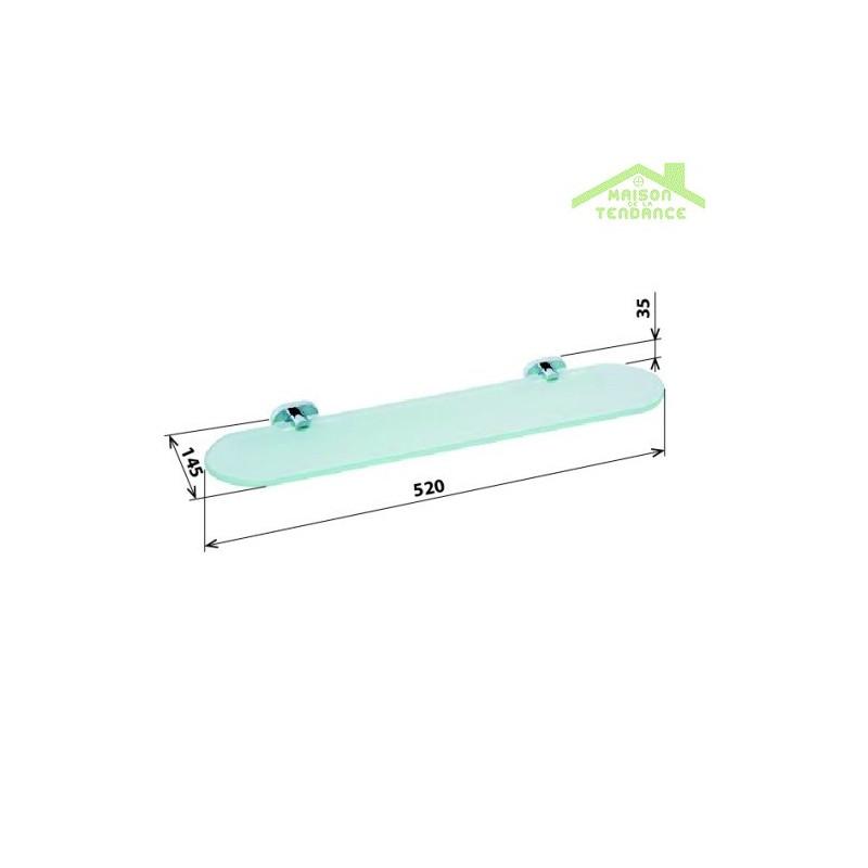 Etag re tablette en verre oval 52x14 5x3 5 cm maison de for Piscine coque 5x3