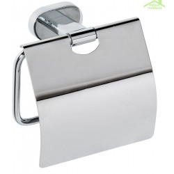 Dérouleur toilettes WC avec couvercle OVAL en chrome 13x12,5x6 cm