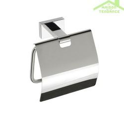 Dérouleur toilettes WC avec couvercle PLAZA en chrome 12,5x12,5x6,5 cm