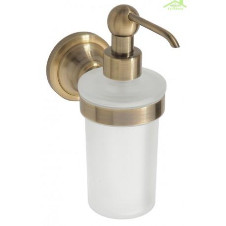 distributeur de savon liquide en verre et en bronze retro 8x19x14 cm 300ml. Black Bedroom Furniture Sets. Home Design Ideas