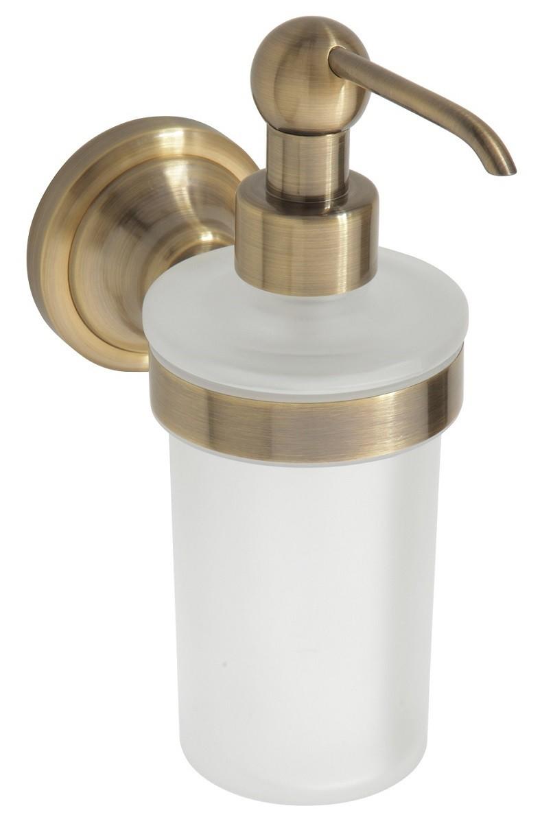 Stunning de savon liquide en verre et en bronze retro xx cm ml with porte savon liquide mural - Porte savon liquide mural ...