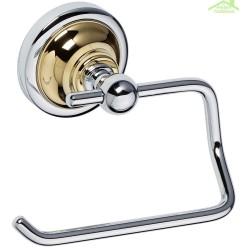 Dérouleur toilettes WC sans couvercle RETRO en chrome-or 13,5x10x9 cm