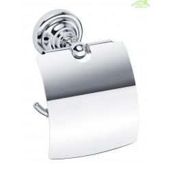 Dérouleur toilettes WC avec couvercle RETRO en  chrome 14x15x10 cm