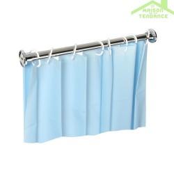 Tringle pour rideau de douche en acier poli 900mm