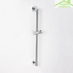 Rail de douche en chrome avec porte pommeau 600mm