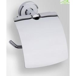 Dérouleur toilettes WC avec couvercle TREND en chrome13,5x15,5x7 cm avec support mural