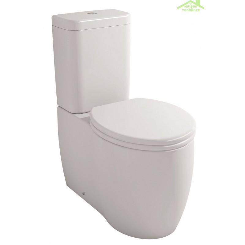 Pack wc poser impression avec abattant frein de chute - Abattant wc avec frein de chute ...