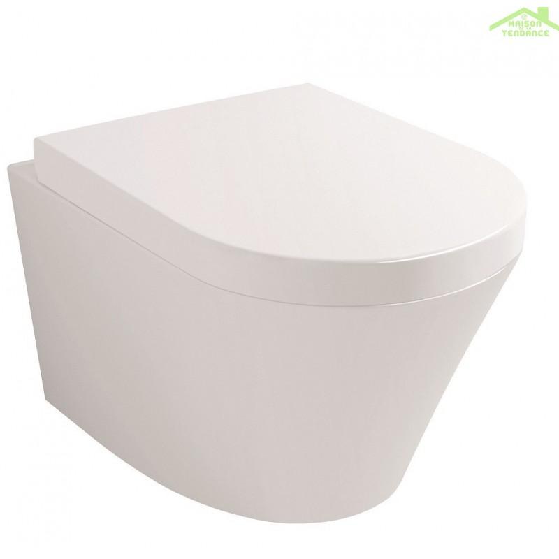 Cuvette wc suspendre sorento avec abattant frein de chute - Abattant wc avec frein de chute ...