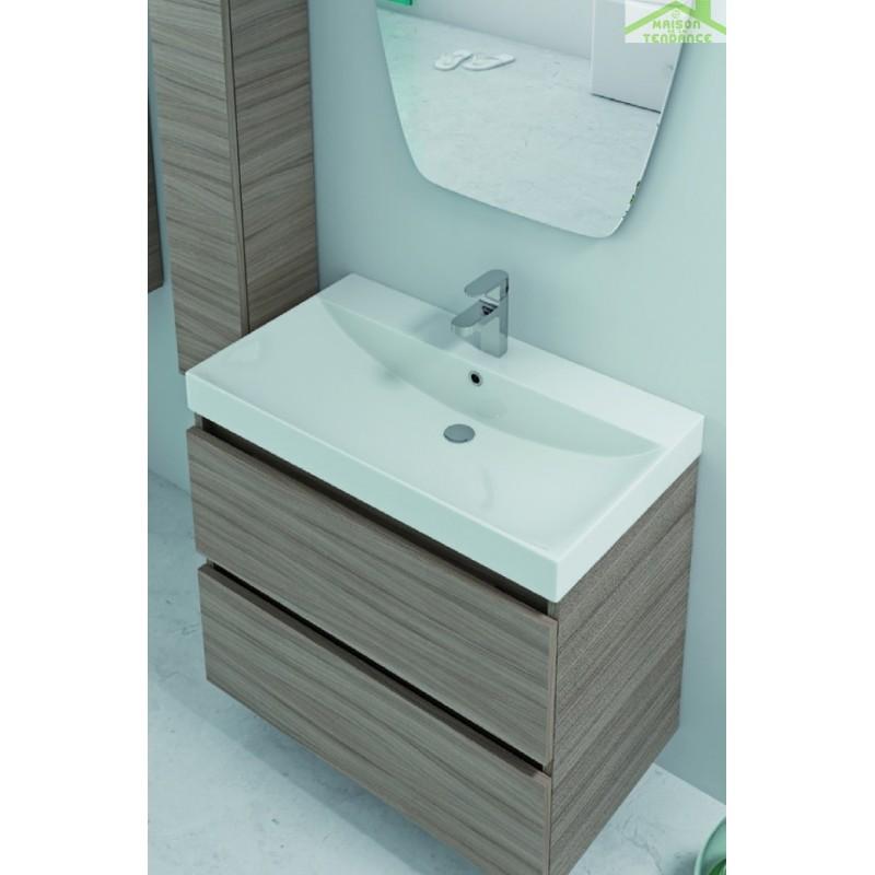 Vasque à poser sur un meuble de bain 60x46x13,5 cm en