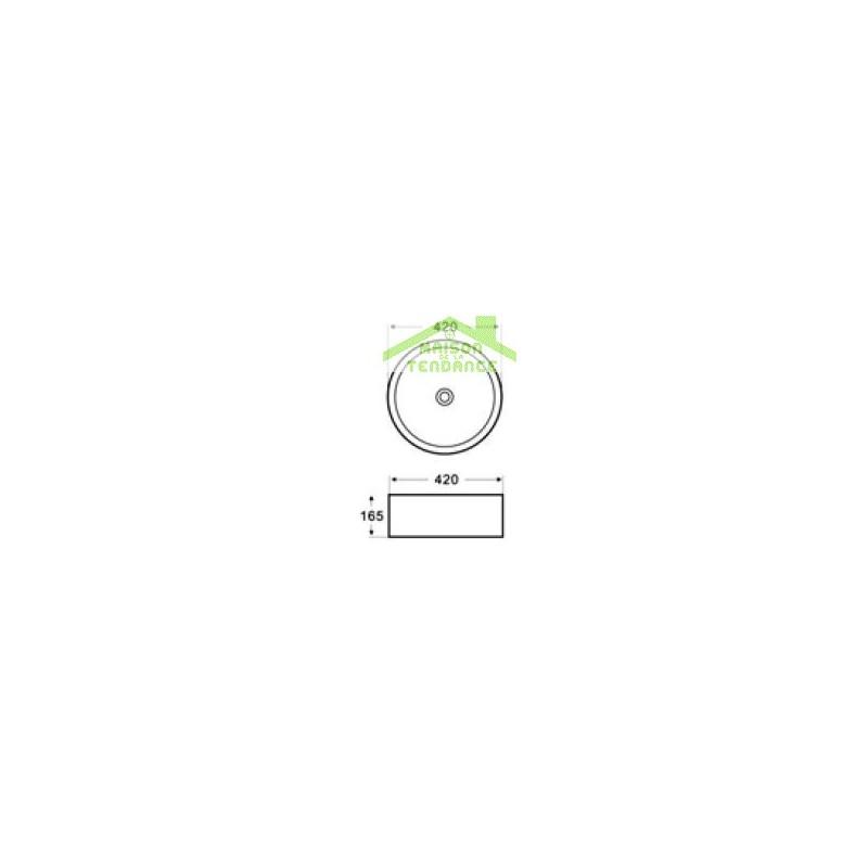 vasque rond poser sur un meuble de bain 42x42x16 5 cm en c ramique. Black Bedroom Furniture Sets. Home Design Ideas