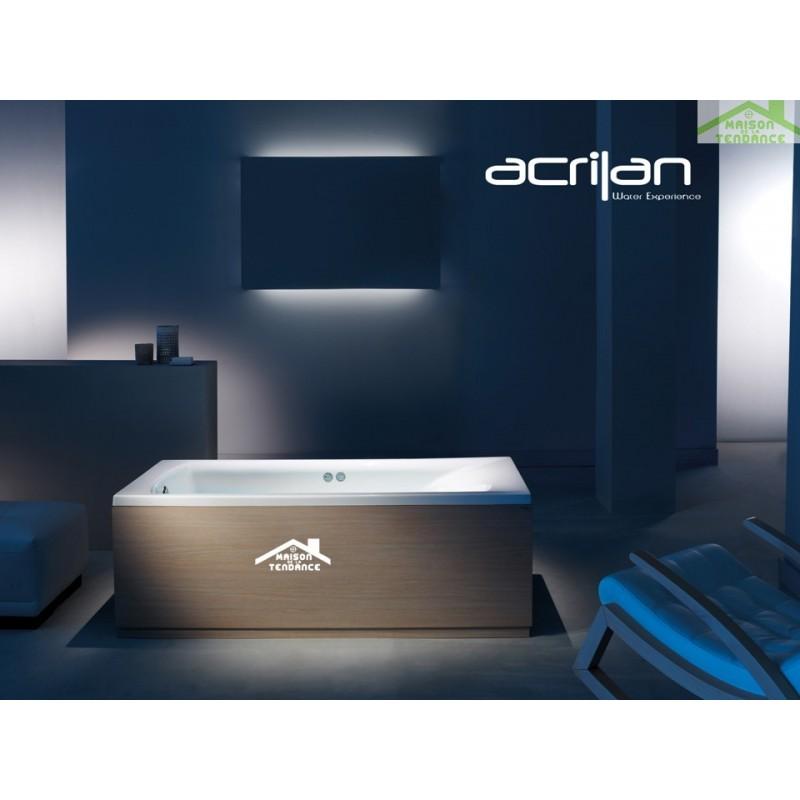 Baignoire en acrylique lucite rectangulaire sine 150x70x40 cm for Baignoire resine ou acrylique