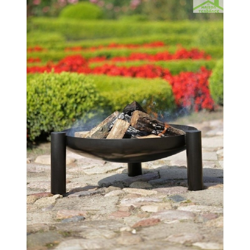 Grille en inoxydable sur tr pied brasero de jardin palma for Brasero de jardin